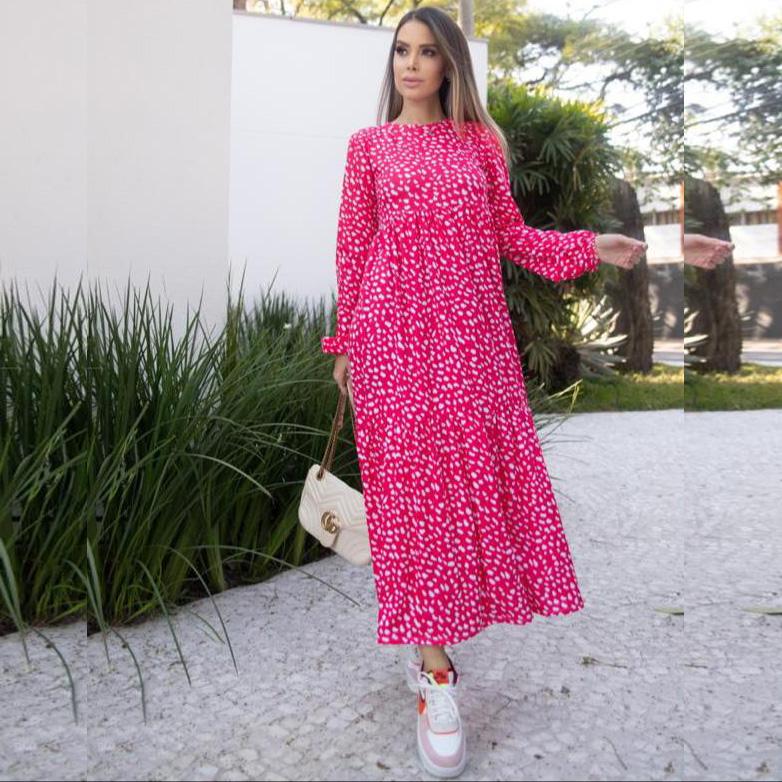 Vestido Estampado Zara Malha com Elastano