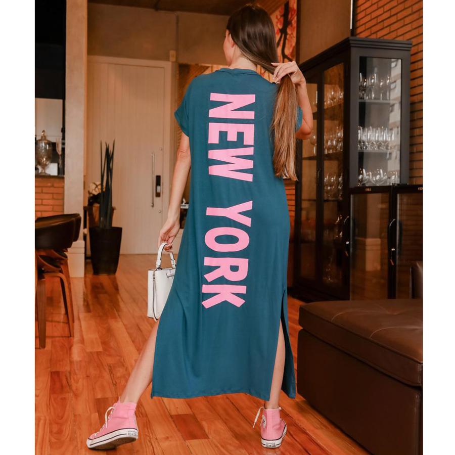 Vestido NY em Malha com Elastano