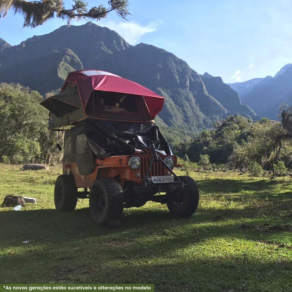 Barraca de Teto Expedition DELUXE 1,4M (3 Pessoas) Verde e Bordô  <b>Despacho Estimado 26/08</b>