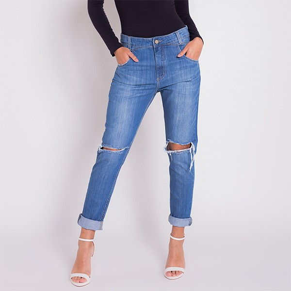 Calça Jeans Areazul Boyfriend Feminina