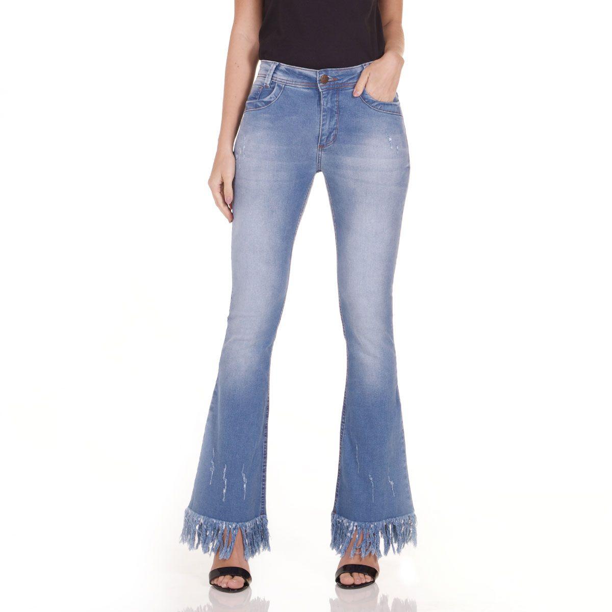 Calça Jeans Areazul Flare Feminina