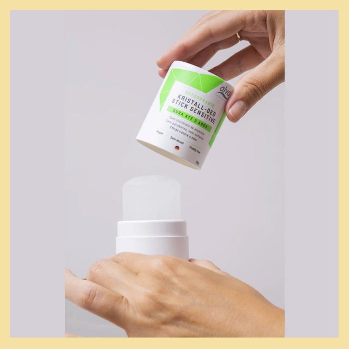Desodorante cristal 120g (embalagem biodegradável)