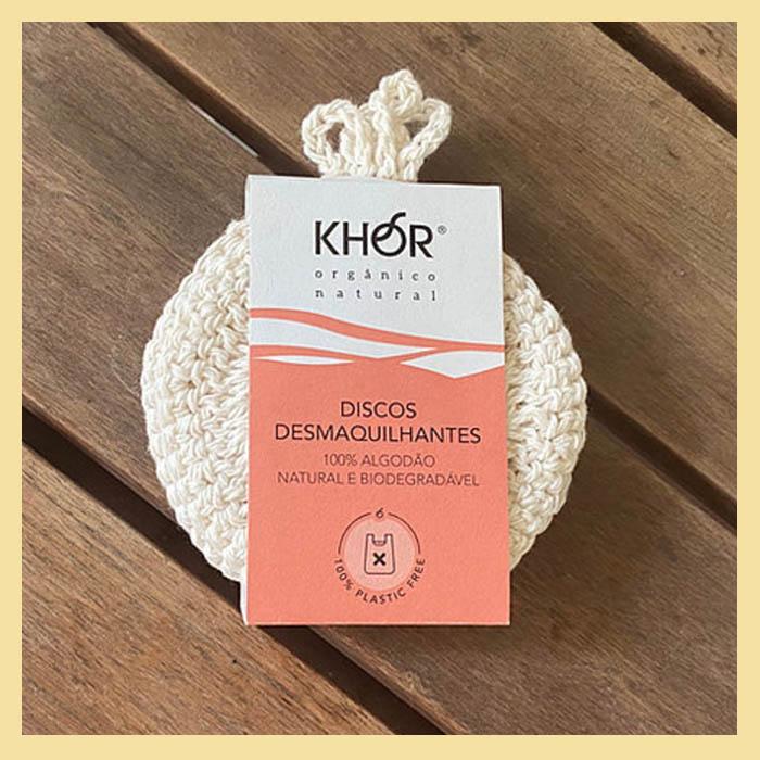 """Discos demaquilantes de crochê """"ecopads"""" 4un (algodão macio e biodegradável)"""