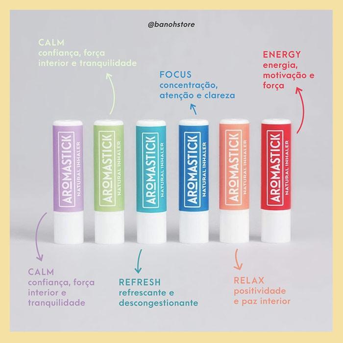 Inalador stick Focus (concentração e clareza)