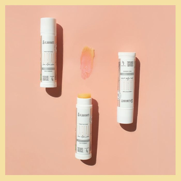 Protetor hidratante labial com Aloe Vera