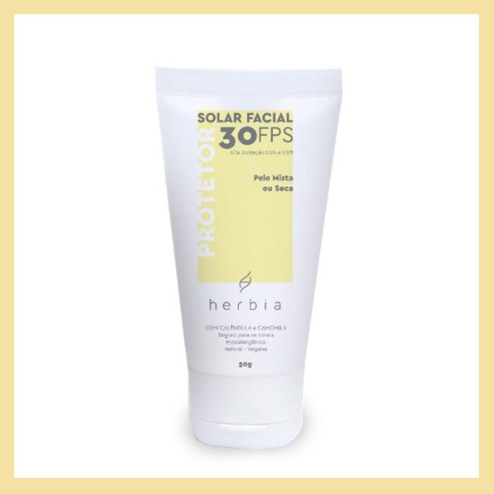 Protetor solar facial Pele Mista ou Seca FPS 30 (hidratação e nutrição)