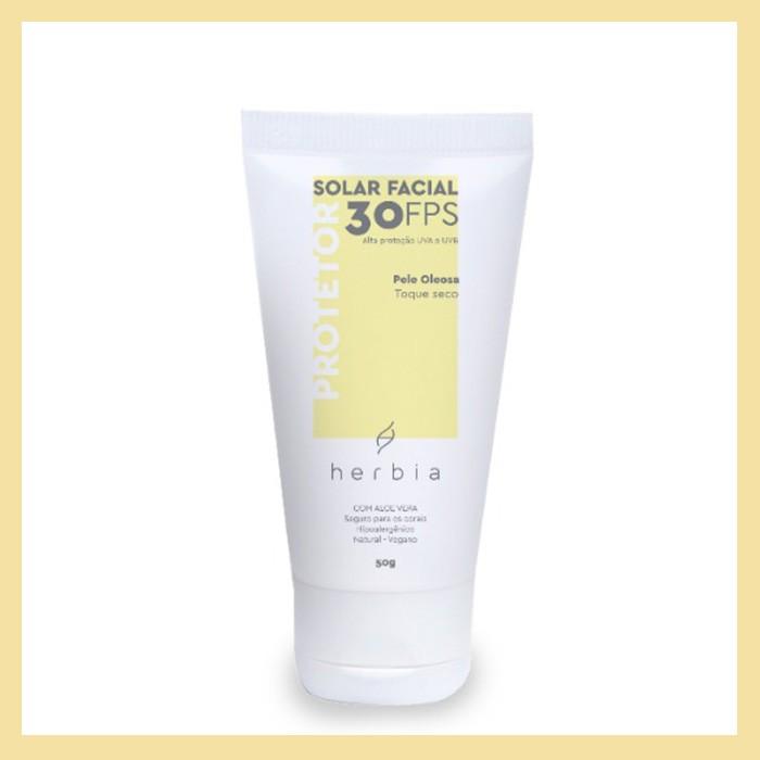 Protetor solar facial Pele Oleosa FPS 30 (toque seco e nutrição)