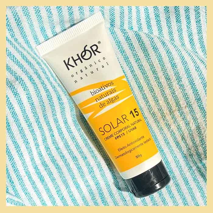 Protetor solar FPS 15 corpo e rosto (toque seco com antioxidantes)