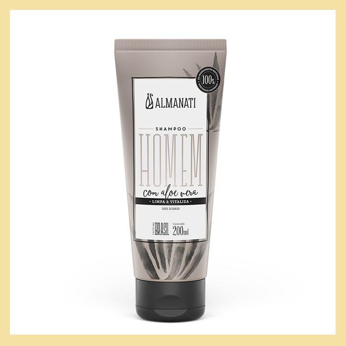 Shampoo com Aloe Vera (limpeza e vitalidade)