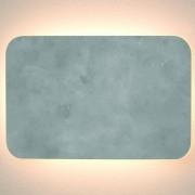 ARANDELA PLANE LED RETANGULAR CONCRETO 14W 3000K SD2335