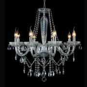 lustre ANJOU 68cm metal cromado 8X vela Bella JF018C