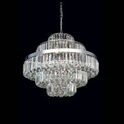lustre DIJON 12xvela metal e cristal / diâm70cm Bella AQ009