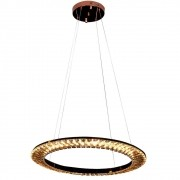 PENDENTE ORBIT 62cm x 3,5cm  1 x LED 30W ROSE GOLD E CHAMPAGNE