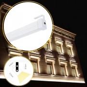 Perfil de led ASSOLUTO SOBREPOR articulado ip65 uso externo / 19W/m / PVC e acrílico ILT0500