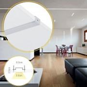 Perfil de Led de Lisciare embutir no gesso no frame/ 19W/m / alumínio e acrílico ILT0160