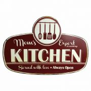 Placa decorativa KITCHEN  metal 53 cm  Ilunato  HD0341EQ