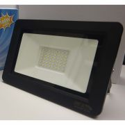 REFLETOR 100W PRETO aluminio IP65 ÂNG 120° 8000lm TENS 85 A 265V VIDA ÚTIL 25000h