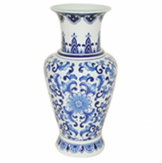 VASO CERAMICA BLUE SPIRIT BASIC SHAPE AZULBRANCO 17,5X17,5