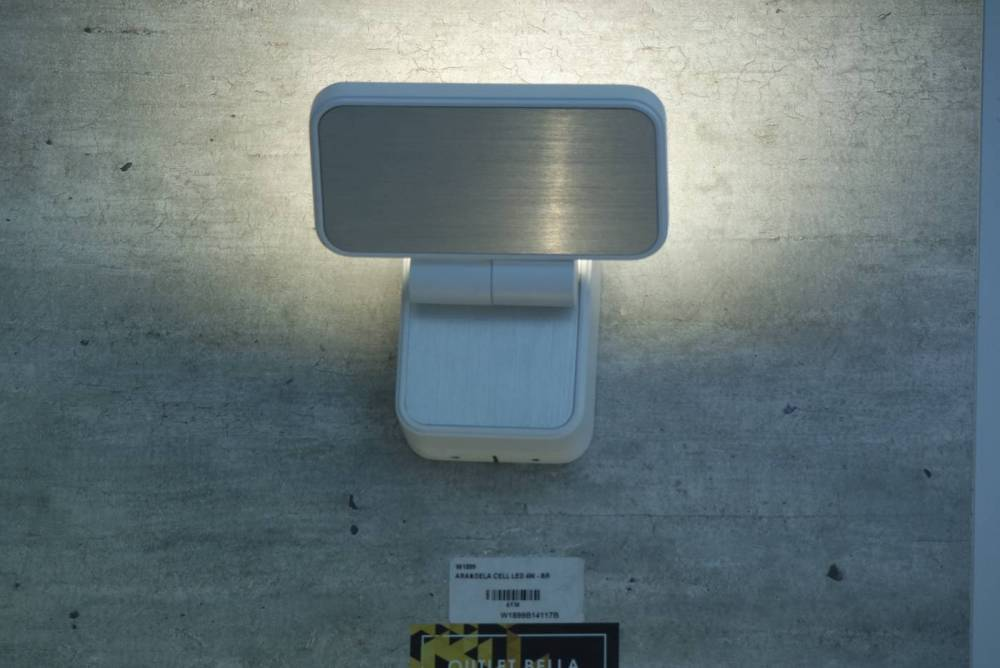 ARANDELA CELL 13CM X 13CM X 14CM  1 X LED 4W 127V / 220V BRANCO
