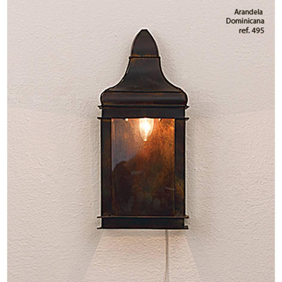 arandela DOMINICANA bronze 1Xvela Ilunato TL495