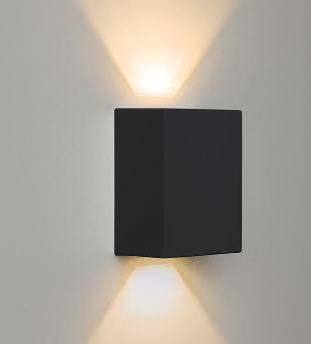 ARANDELA LED EFFEKT 2X4W 480LM PRETA STH6731/30