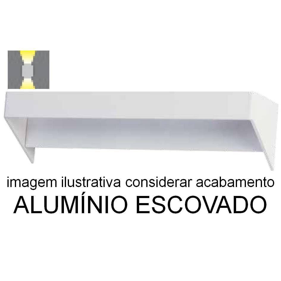ARANDELA GO 40cm x 10,5cm x 9,5cm  1 x LED 3W 127V / 220V PRATA