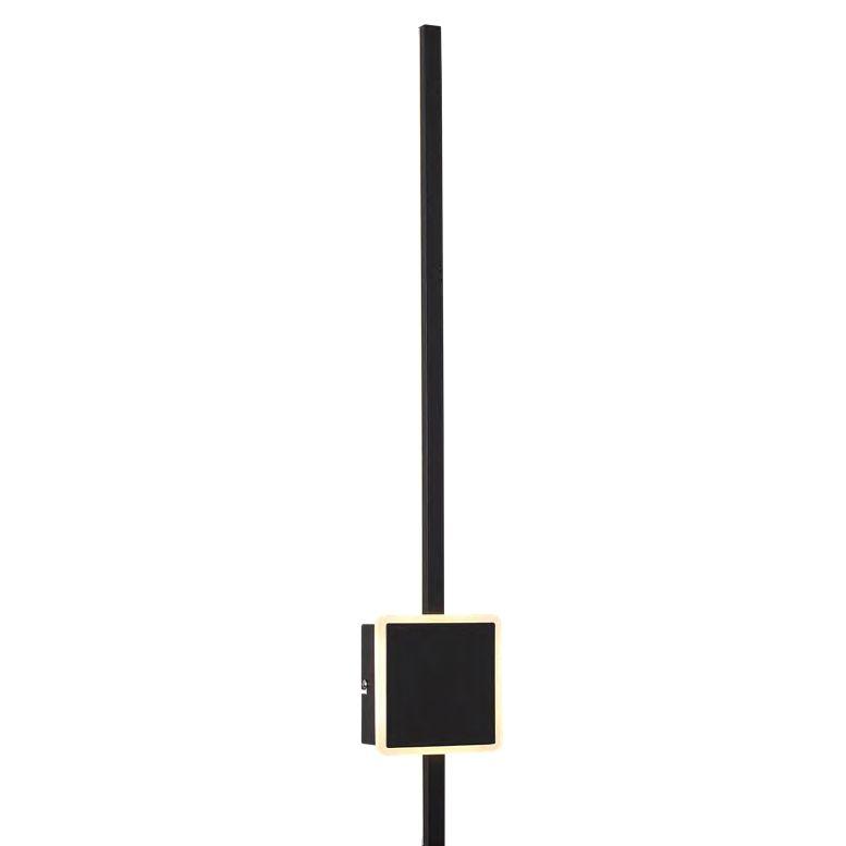 ARANDELA LINA METAL   6cm x 81,5cm x 13,6cm  2 X LED 24W 127V / 220V PRETO