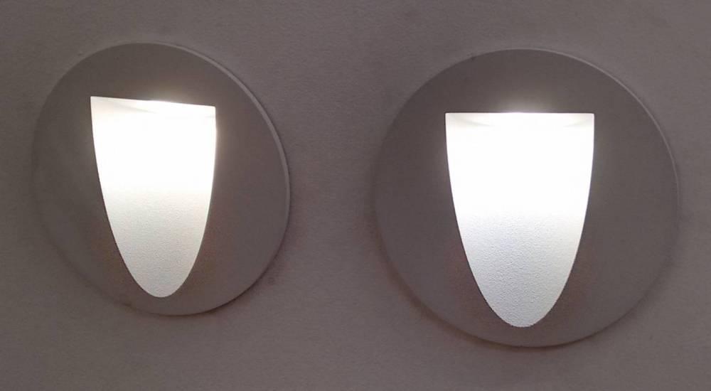 BALIZADOR EMBUTIDO RED RISU LED 3W - BR