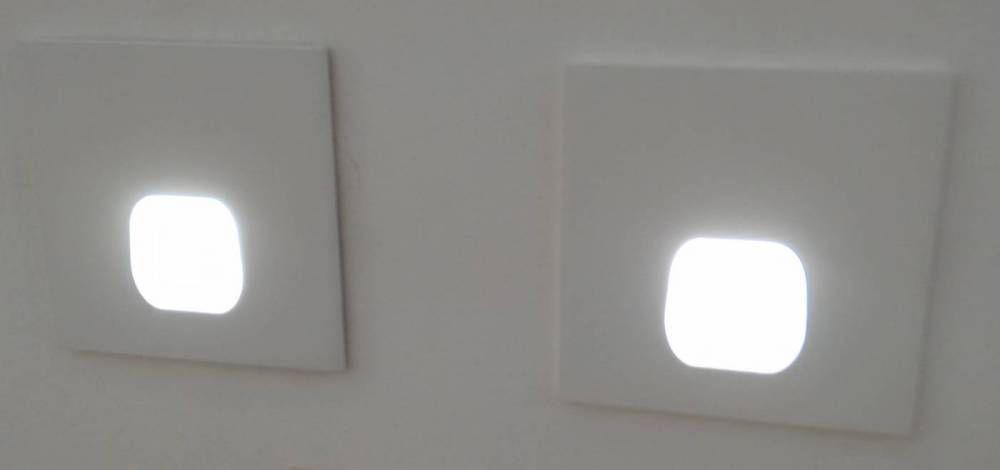 BALIZADOR EMBUTIDO QUAD FIX LED 3W - BR