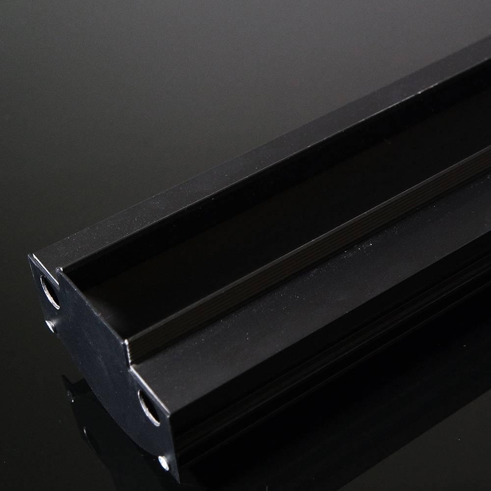 calha base preta para perfil de led S40 1mt Mister SLED9008