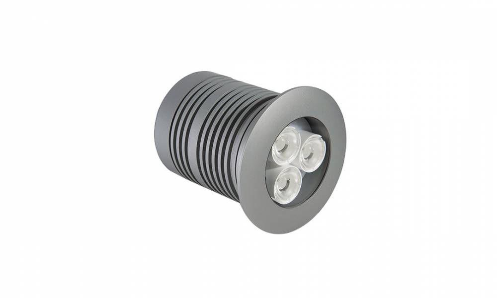 Embutido de solo 9w quente prata Power Lume ES9W