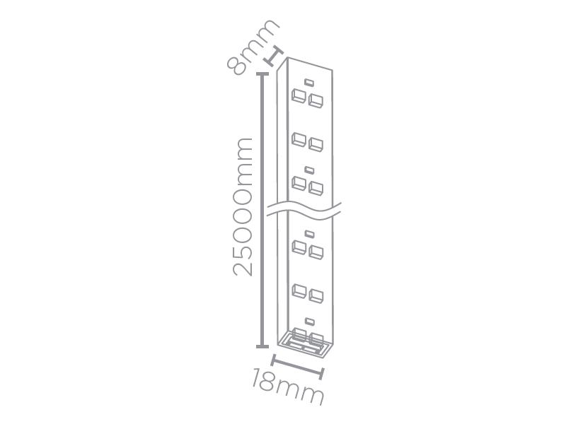 FITA LED 25M 10W/M 3000K 220V IP67 STH7832/30