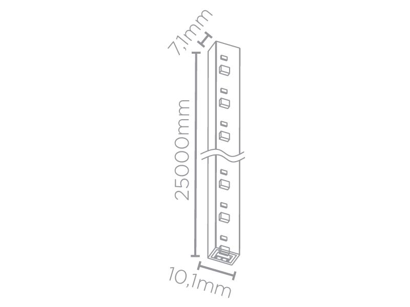 FITA LED 25M 5W/M 3000K 220V IP67 STH7822/30