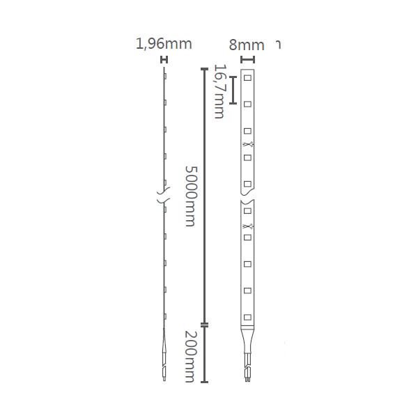 FITA LED EVO 6W/M 12V IP20 2700K STH6800/27