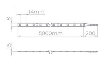 FITA LED EVO 5,5W/M 480LM/M 12V IRC 97 IP20 STH20800/40