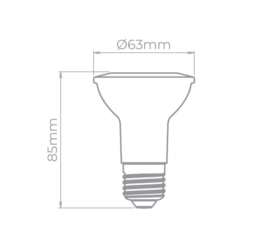 LAMP LED PAR20 5,5W 40° 535LM STH9024/30