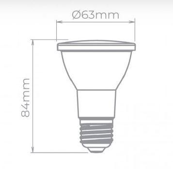 LAMP LED PAR20 COLOR 6W VERDE STH7090/VD