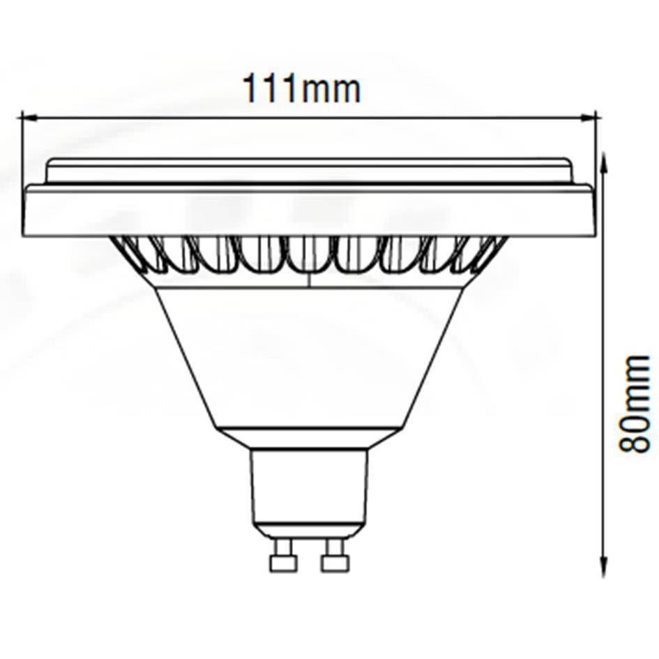 LAMPADA LEDPRO AR111 GU10 11W 127V DIMERIZAVEL
