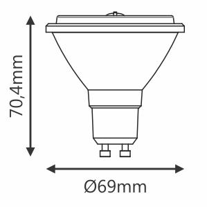 LAMP LED AR70 EVO BDT 4,8W 24° 300LM STH6436/27