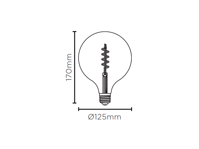 LAMP LED BALLOON G125 VINTAGE ESPIRAL 2,5W 200LM STH8246/24