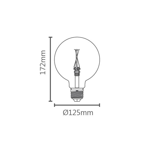 LAMP LED BALLOON G125 VINTAGE E27 2W STH6337/24