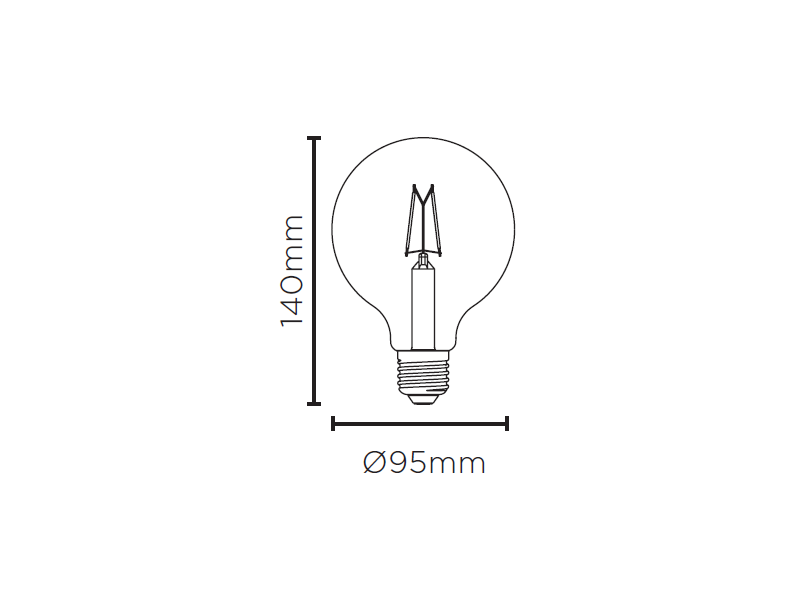 LAMP LED BALLOON G95 VINTAGE DIM 4,5W 127V 350LM STH8281/24