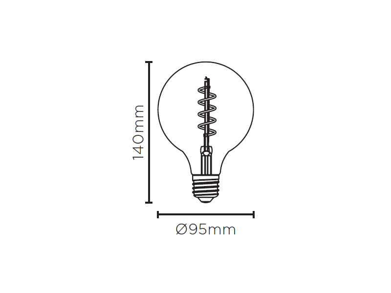 LAMP LED BALLOON G95 VINTAGE ESPIRAL 2,5W 200LM STH8244/24