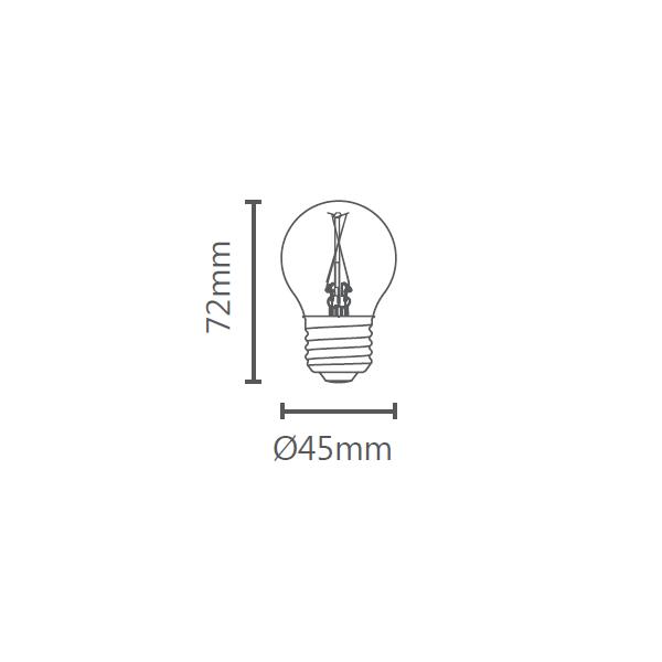 LAMP LED MINI BULBO VINTAGE E27 2W STH6334/24