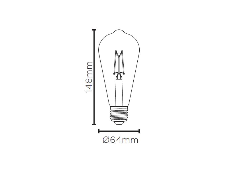 LAMP LED ST64 VINTAGE DIM E27 4,5W 127V 350LM STH8271/24