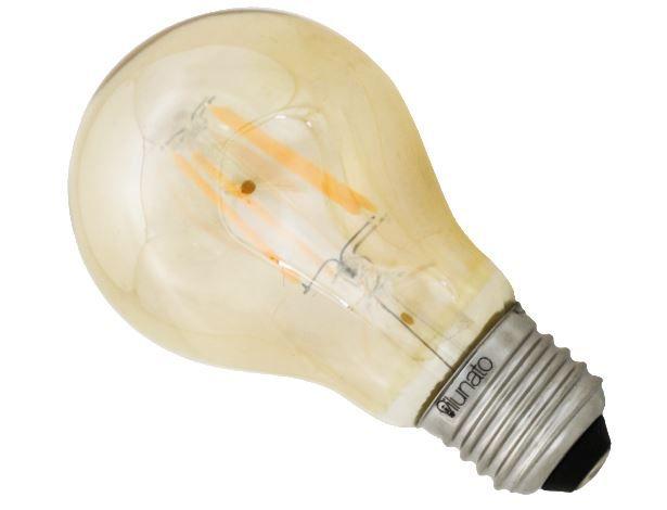 lâmpada bulbo filamento âmbar 2.300K 4W ilunato ILT1950