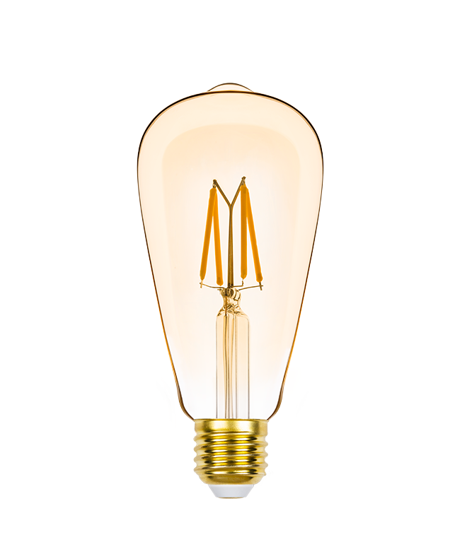 LAMP LED ST64 VINTAGE DIM E27 4,5W 220V 350LM STH8272/24