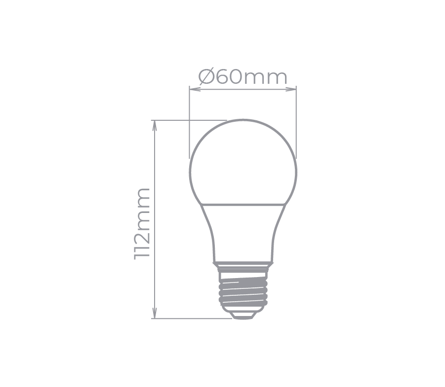 LAMP LED BULBO E27  7W 170° 560LM STH8264/30