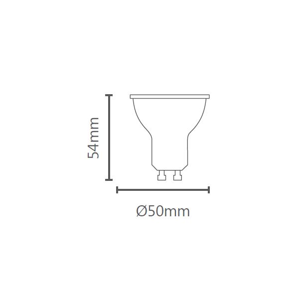 LAMP LED GU10 4W 36° 380LM STH8534/65