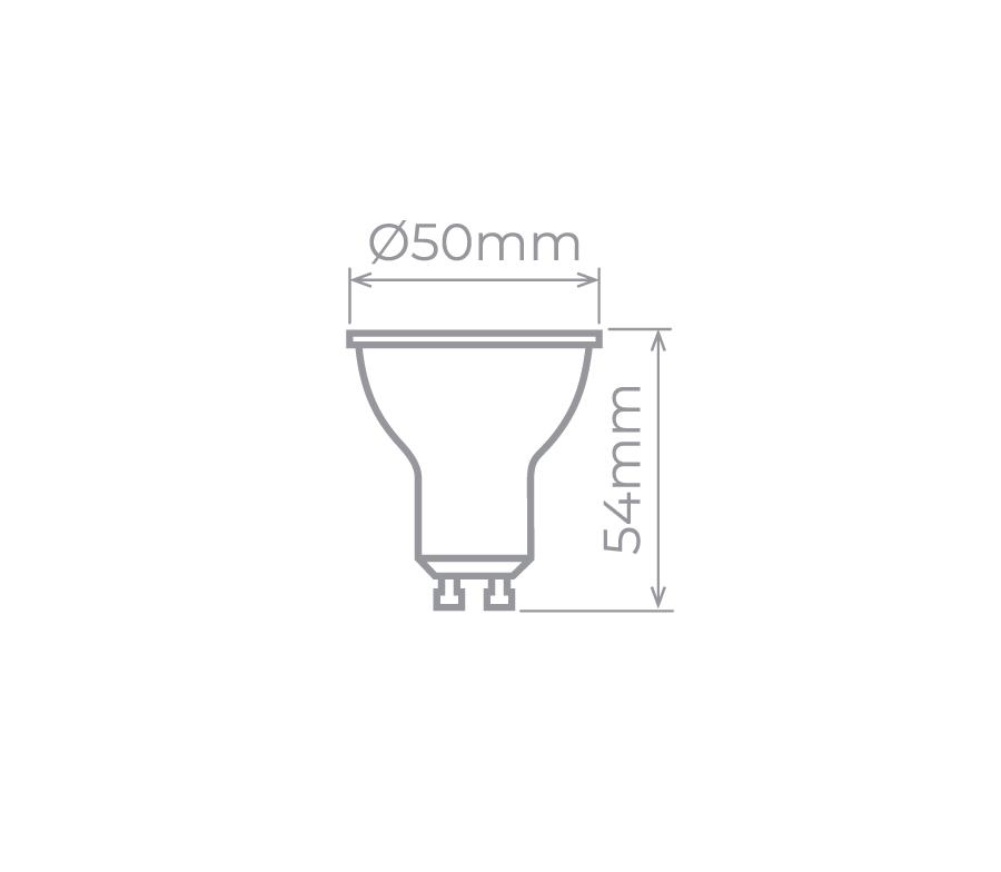 LAMP LED GU10 6W 36° 500LM STH8535/40